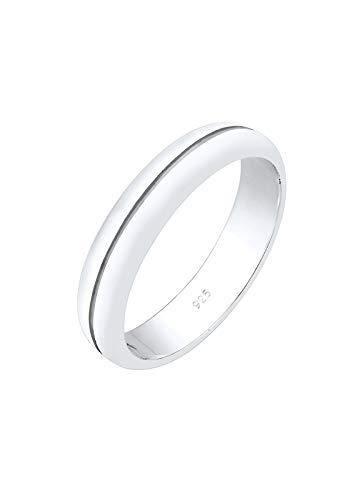 Elli PREMIUM Anillos Mujer El Compromiso Elegante Básico en Plata Esterlina 925