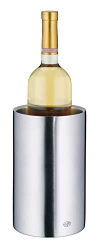 alfi Weinkühler Edelstahl Vino, Flaschenkühler doppelwandig 0457.205.100 Sektkühler kann im Gefrierfach vorgekühlt werden, Getränkekühler hält Flaschen über Stunden kalt