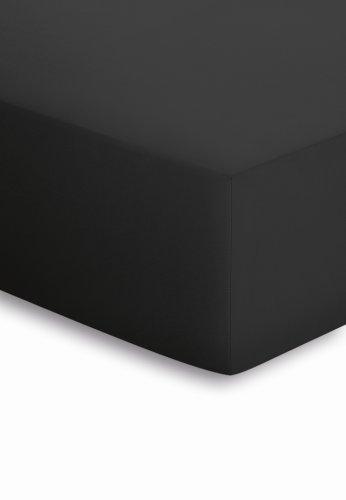 schlafgut Spannbetttuch Jersey-Elasthan schwarz, 140x200-160x220 cm