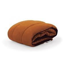 Icelands Edredón Nórdico Conforter Mediterráneo, 235x270cm, Naranja-Chocolate