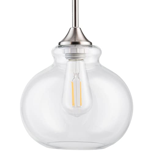 Pendant Light Fixture with Clear Glass Shade