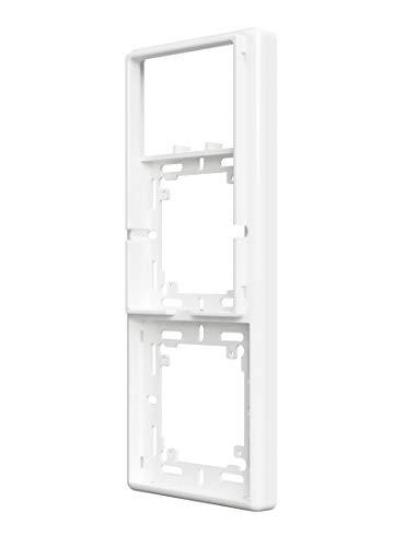 Samotech® 2-fach Weiß Abdeckrahmen für Philips Hue Dimmer V1 (2-fach SM202)
