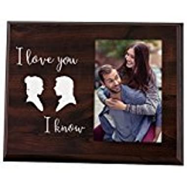 Elegant Signs Funny newlywed or valentines day gift - Cute picture frame for couples that says I Love You, I Know