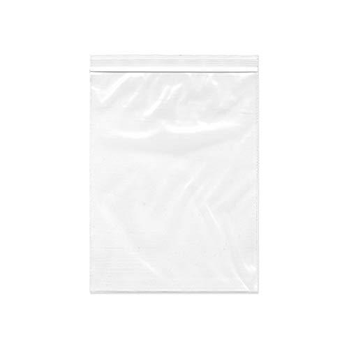 OLYCRAFT 100枚 チャック袋 17x12cm 透明 チャック付 ポリ袋 ジッパー式 片側厚さ0.0675mm 無地タイプ プラスチック リサイクル可能 小分け収納袋 お菓子 小物入れ クリア