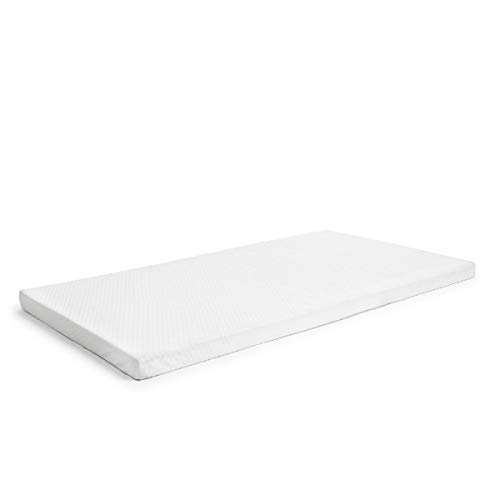 """Milliard 2-Inch Ventilated Memory Foam Crib and Toddler Bed Mattress Topper with Removable Waterproof 65-Percent Cotton Non-Slip Cover - 52"""" x 27"""" x 2"""""""