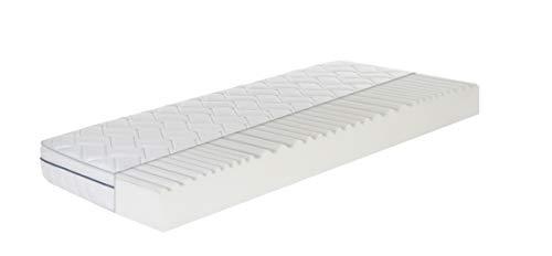 Ortho-Relax Matratze Breeze Airyform 19-100x200 cm - 19cm hoch - 7-Zonen Komfortschaumatratze - Atmungsaktiv - Rollmatratze Öko-Tex Zertifiziert - mit KB