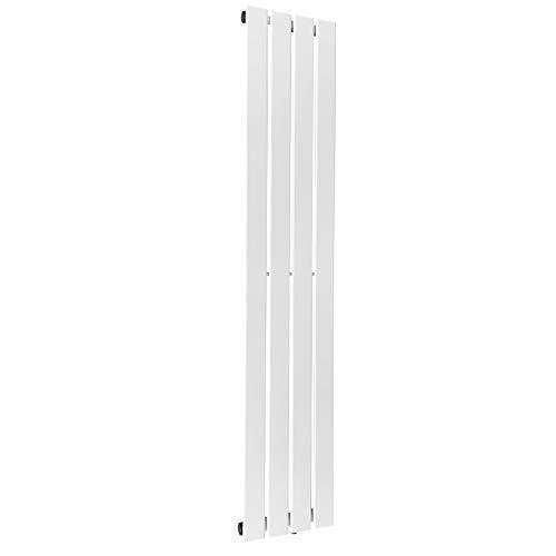 Aquamarin® Design Heizkörper - Horizontal oder Vertikal, Ein- oder Doppellagig, Mittelanschluß, Zentralheizung, Weiß - Paneelheizkörper, Flachheizkörper, Wandheizkörper 1600x300 mm Einlagig