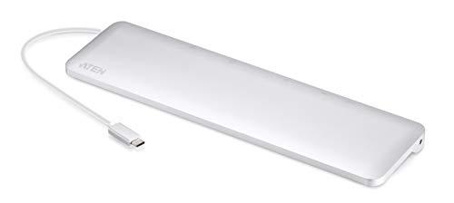 ATEN UH3234   USB-C Multiport Dock mit Power Passthrough   Weiß   USB-C Dock   Power Passthrough