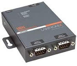 LANTRONIX UD2100001-01 Lantronix 2 Port Serial RS232/ RS422/ RS485 to IP Ethernet Device Server - US Domestic 110 VAC