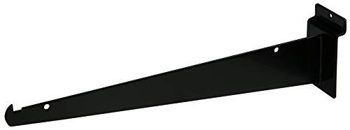 12' Black Slatwall Knife Shelf Bracket With Lip - 10 Pcs Lot - Fits All Slat Panels