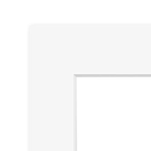 PHOTOLINI Passepartout Weiß 40x50 cm (30x40 cm) Reinweiß