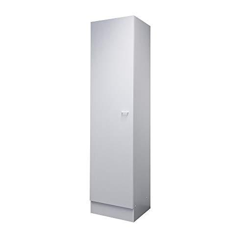 Flex-Well Hochschrank BOCHUM | Geschirrschrank | 1-türig, 4 Fächer | Breite 50 cm | Weiß