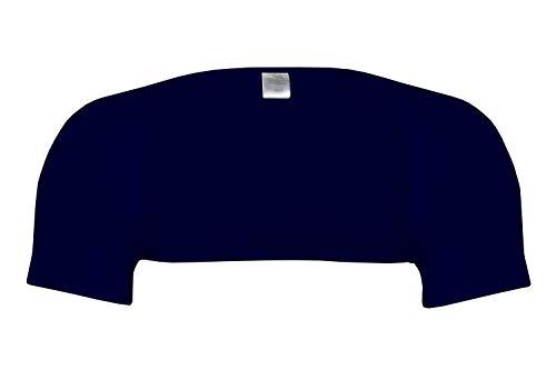 wobera Angora Schulterwärmer mit ½ Arm aus Angora und Baumwolle (Gr. M, Farbe: Marine)