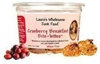 Lauras Wholesome Junk Food Breakfast Cranberry Bite Lettes Cookie, 7 Ounce -- 6 per case. by Lauras Wholesome Junk Food