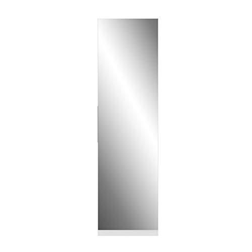Forte Calma Armoire à Chaussures, Bois-Panneau de Particules, Blanc, 180 x 50 x 20 cm