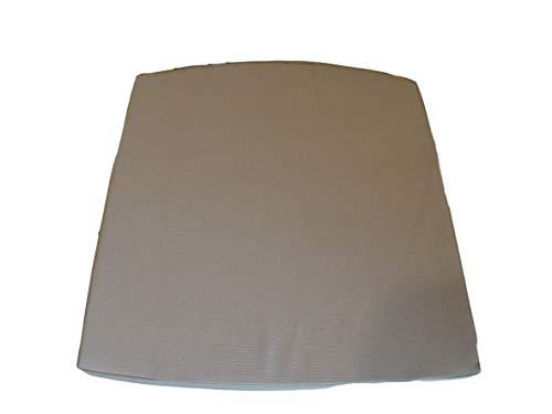Schleife mit Kissen Hochwertiges Baumwolle Korbweide stuhlkissen/Gartenstuhl Kissen Sitzkissen 44 x 40 x 5 cm (Beige)