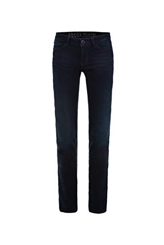SOCCX Damen Stretch-Jeans RO:My, Blue Black Used