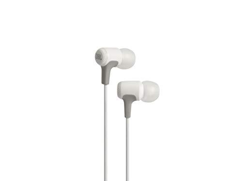 JBL E15 In-Ear Kopfhörer Ohrhörer mit Universeller 1-Tasten-Fernbedienung mit Integriertem Mikrofon Kompatibel mit den meisten Smartphones - Weiß