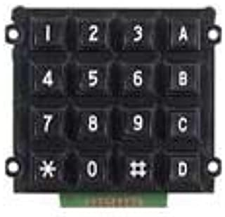 Jameco Valuepro AK-1607-N-BBW-R Switch Keypad, 16 Button with 8-Pin Solder Pad, 4 x 4 Key, 3.0
