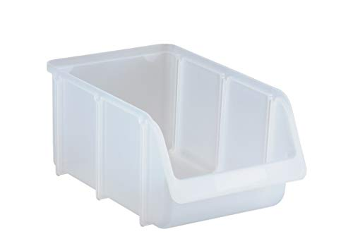 hünersdorff Sichtbox / Stapelbox / Lagerbox in Größe 4, stapelbar, Farbe: Transparent