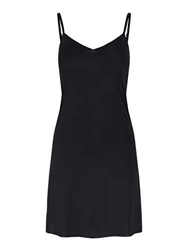 PIECES Damen PCELLA Slip Dress Kleid, Black, M
