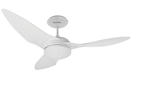 Halonix Plasma BLDC 1300mm Ceiling Fan with Built-in LED Light and Remote (White)