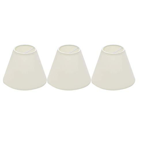 PIXNOR 3 Stück Kleiner Lampenschirm Fass Stoff Dekorativer Lampenschirm für Tischleuchte Kronleuchter Wand Deckenleuchte Weiß