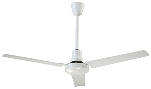 Canarm White Variable Speed & reversible 60 Inch Industrial Ceiling Fan 46000 CFM CP60HPWP