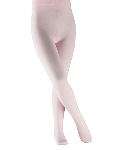 FALKE Kinder Cotton Touch Strumpfhose, Baumwollmischung, Sehr weiches Hautgefühl, Ideal Passform durch Elasthananteil, Allrounder, 1 Stück, Rosa (Powder Rose 8900), 134-146 cm