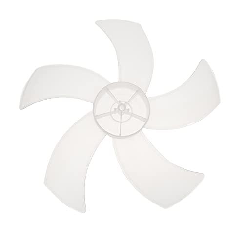 Angoily 2 Piezas de Plástico de Reemplazo de Aspas de Ventilador de Baño de 5 Hojas RV Accesorio de Ventilador de Repuesto para Ventilador de 16 Pulgadas