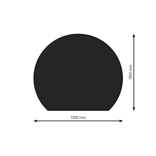 Schindler + Hofmann PU075-0B7-sw Bodenplatte B7 Kreisabschnitt schwarz pulverbeschichtet 1200 x 1050 mm