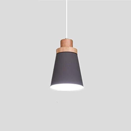Einfache Beleuchtung LED Pendelleuchte Holz und Aluminium Licht Restaurant Bar Coffee Restaurant LED Hängelampen