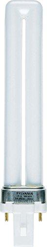 Sylvania Kompakt-Leuchtstofflampe 7W, Stecksockel G23 2-Pin, 15.000h Lebensdauer,830=3000K