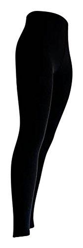 Star Socks Germany 2 Stück Thermo-Legging schwarz, grün, blau, marine extra warm Komfortzwickel S-XXL, Schwarz, XL / 44-46