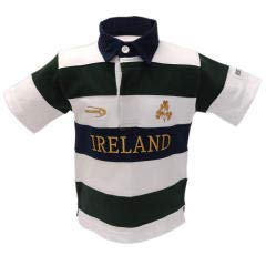 Lansdowne Ierland Kids Fles/Wit/Goud 1/2 mouw Rugby Shirt
