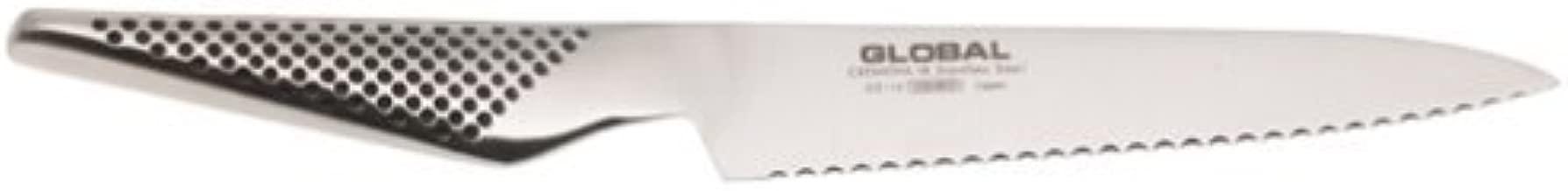 serrated global knife