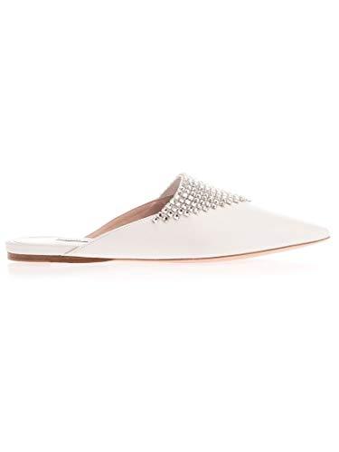 Luxury Fashion | Miu Miu Dames 5F918CF005038F0009 Wit Kristal Ballerina's | Lente-zomer 20