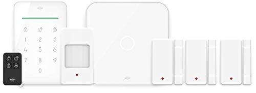 ELRO AS90S Home+ Slim Draadloos Alarmsysteem – Wifi – GSM Functie – Als Beste Getest - Met Basisstation, Controlepaneel, Bewegingsmelder, 3x Deur / Raam Contact en Afstandsbediening