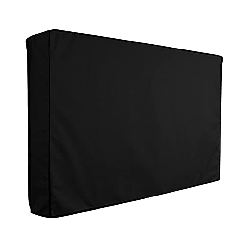 MOVKZACV Cubierta impermeable para TV para exteriores de 50 a 52 pulgadas con cubierta inferior y contra arañazos (tamaño: 33 x 52 x 52 pulgadas)