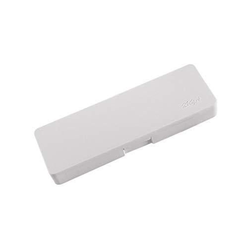 KunmniZ Estuche transparente simple para lápices de plástico esmerilado, caja de almacenamiento de papelería, escuela, suministros de oficina, regalo para niños