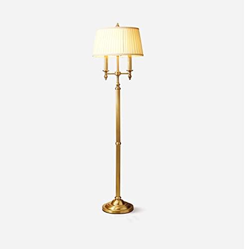 Lámpara De Piso Lámpara de pie tradicional, lámpara de pie clásica con tela de tela, lámpara de polo alto elegante de la vendimia para la sala de estar de la oficina de la sala de estar, luces de piso