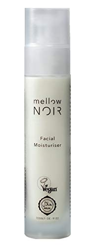 mellow NOIR Facial Moisturiser | Gesichtscreme für trockene Haut | 50 ml mit Hyaluronsäure & Vitamin E | Vegane Naturkosmetik Feuchtigkeitscreme für das Gesicht für Damen & Herren