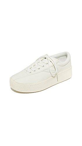 TRETORN Women's Nylite Bold Platform Classic Sneakers, Vintage White, 8.5 Medium US