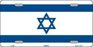 SIGNCHAT Placa de matrícula de la Bandera de Israel de 15 x 30 cm