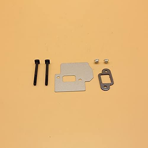Piezas de repuesto de la junta protectora de la placa del perno de escape del silenciador para Stihl MS250 MS230 MS210 021023025 Piezas de motosierra de gas # 1123141 3200