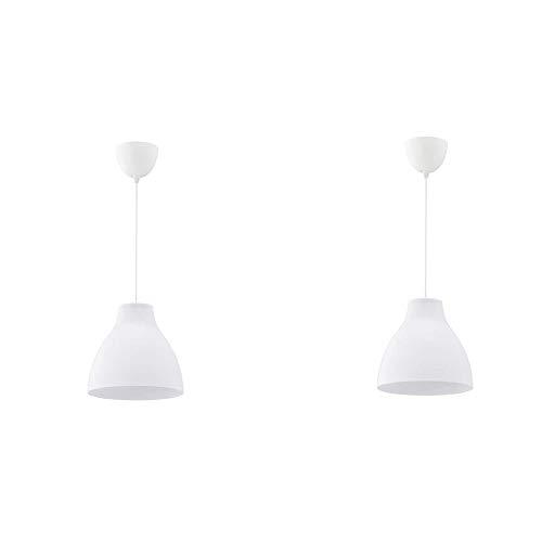 IKEA MELODI Lámpara de techo, blanco, 28 cm - 603.865.27