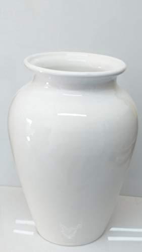 Pagano home portaombrelli porta ombrelli in ceramica Made in Italy altezza 50 cm. mod bianco