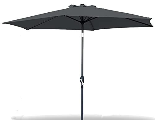 GREATOOL Sombrilla Parasol de Aluminio 300CM, Sombrilla de Jardín y Terraza (300CM, Negro)