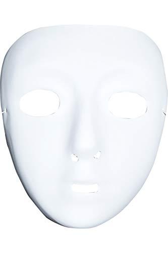 Masque blanc à décorer sans front