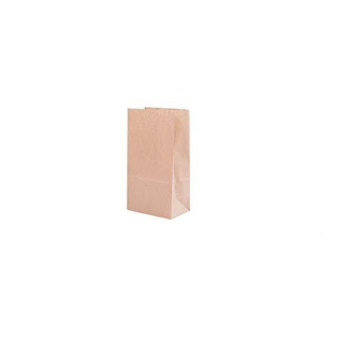 PPLAS S/M/L desechable Food Packaging sándwich Bolsa de Papel de Kraft Food panificadora ecológicos Fuentes de la Boda Bolsa for el Partido Regalo Papel (Color : Brown, Gift Bag Size : 240x130x80mm)